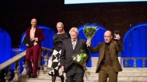 Vid prisutdelningen i Sotckholm